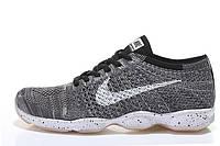 Кроссовки мужские Nike Zoom Fit Agility Flyknit (найк зум агилити) серые