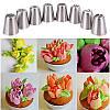 Набор кондитерских насадок для цветов  -8 шт - металлические насадки для тюльпанов