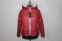 """Куртка """"Smile"""" женская двусторонняя, красная"""