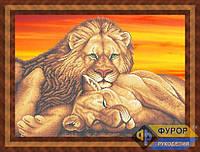Схема для вышивки бисером - Пара львов, Арт. ЖБч2-7