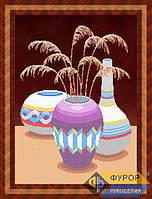 Схема для вышивки бисером - Натюрморт из трех ваз, Арт. НБч2-2