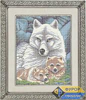 Схема для вышивки бисером - Волчица с волчатами, Арт. ЖБп3-2
