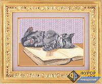 Схема для полной вышивки бисером - Игривый котенок, Арт. ЖБп3-7-1
