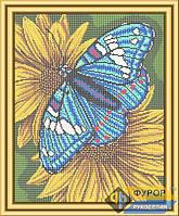 Схема для полной вышивки бисером - Бабочка на желтых цветах, Арт. ЖБп3-26