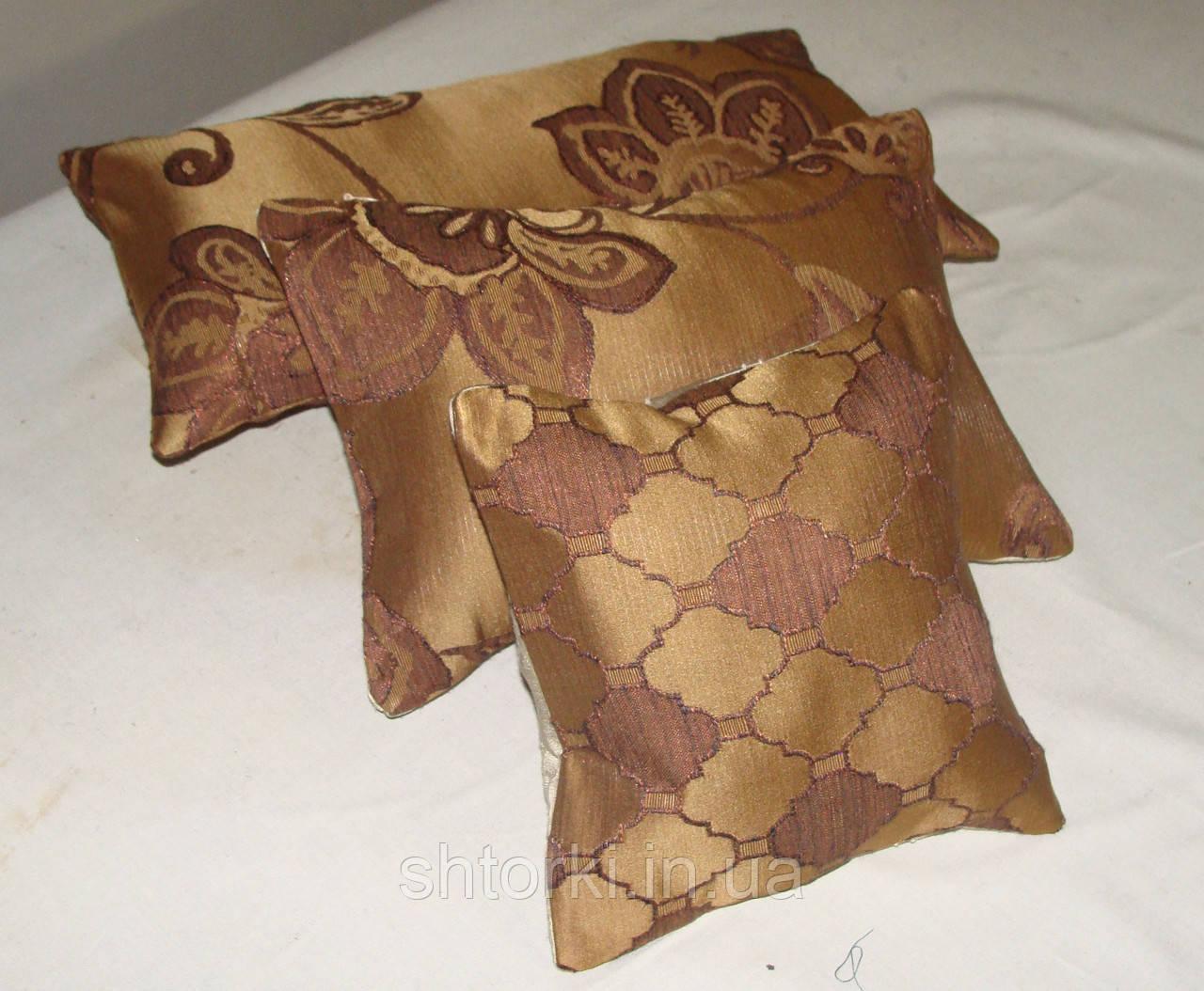 Комплект подушек  коричневые, 3шт