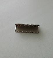 Наконечник на ремень 25 мм никель