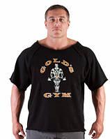 """Мужская футболка для бодибилдинга """"GOLD'S GYM"""" черная"""