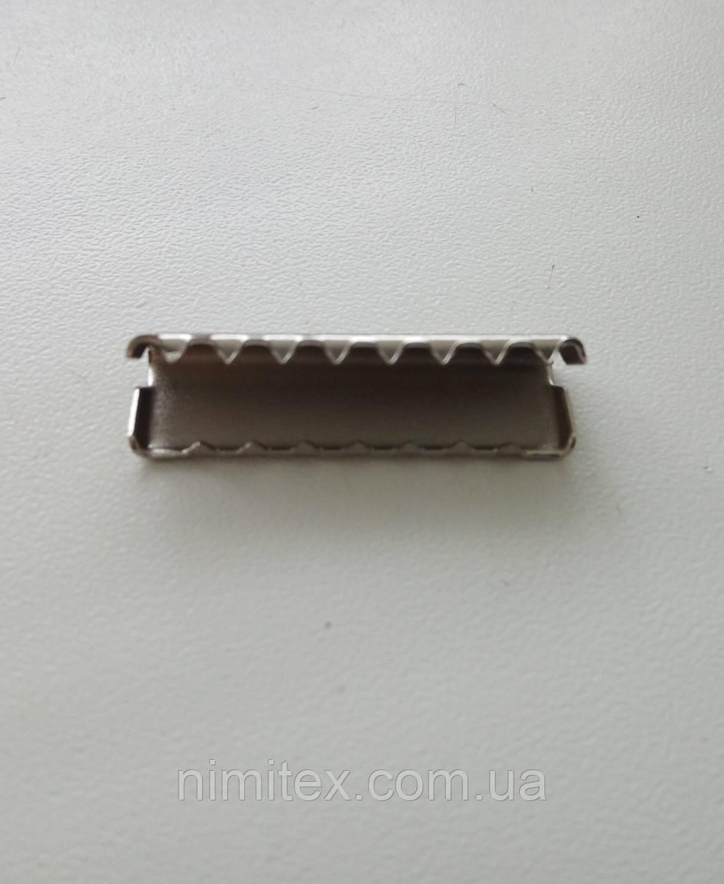Наконечник на ремень 30 мм никель
