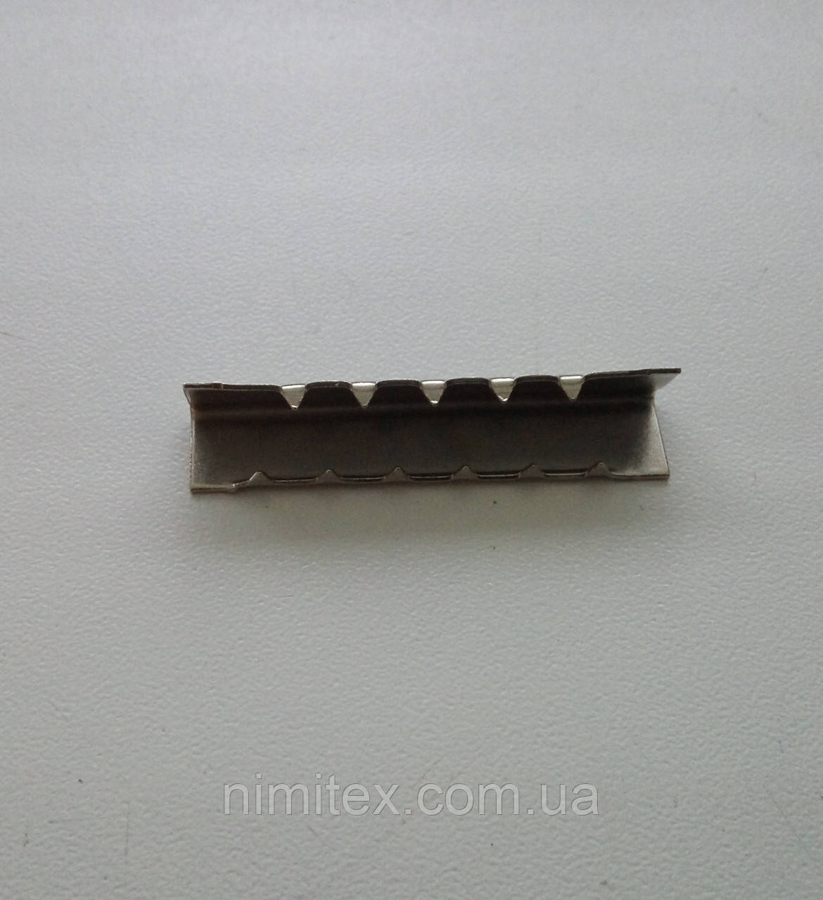 Наконечник на ремінь 38 мм нікель