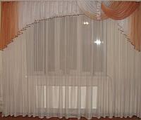 Ламбрекен Карнавал терракот персик 3м , фото 1