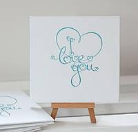 Коробочка-бокс картонная для свадебных дисков