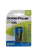 Батарейка GOLDEN POWER Power Plus 6LR61 BLI 1 Alkaline