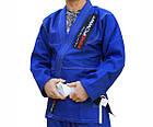 Кимоно для Бразильского Джиу-Джитсу Firepower 3.0 Синее с белым, фото 2