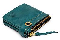 Кожаный кошелек ручной работы Gato Negro Espacio, голубой (кошельки из натуральной кожи)