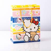 Пакет подарочный детский (пластик) Hello Kitty