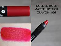 Матовая помада-карандаш Matte Lipstick Crayon Golden Rose 06