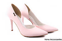 Элегантные туфли женские Zan Zara эко-кожа, розовые (изысканные, удобная колодка, шпилька, Польша)
