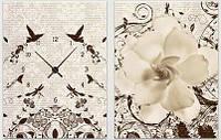 """Модульная картина-часы (60х40 см) """"Цветок"""""""