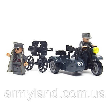 BMW R 75 c Станковым Пулеметом, военный конструктор, аналог лего, BrickArms, фото 2