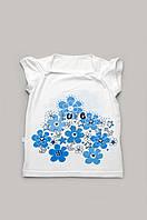 Стильная футболка для девочки, белая детская футболка, белая футболка для девочки