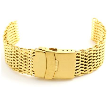 Браслет миланское плетение золото