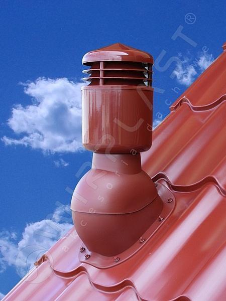 Вентиляційний вихід Wirplast Perfecta 110. Утеплений. Для металочерепиці.K49 (колір 8019,8017)