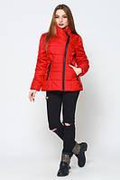 Весенняя стильная молодежная красная  куртка Конни   Leo Pride 42-50 размеры