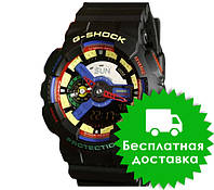 Часы Casio G-Shock GA-110 Black Violet Yellow