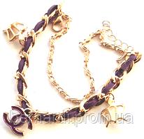 Браслет - копия Шанель фиолетовый