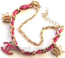 Браслет - копия Шанель розовый