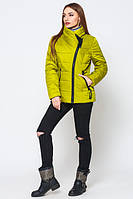 Весенняя стильная молодежная  желтая  куртка Конни   Leo Pride 42-50 размеры