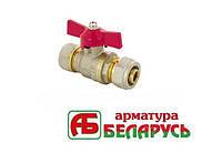 Кран шаровый 16х16 вода Арматура Беларусь PN25 бабочка