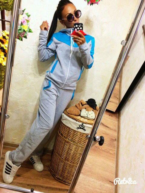 Спортивный костюм женский Леон серый , одежда женская - Интернет-магазин