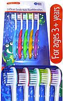 WhiteWave  Улыбайтесь децкая Зубная щетка для чистки зубов  5 шт. (Великобритания)