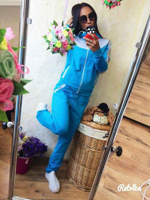Спортивный костюм женский Леон голубой , одежда женская, цена 490 ... 279f0dc6a1b