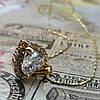 Женская подвеска кулон Сердце, позолота, цепочка 45 + 5 см., фото 2