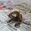 Женская подвеска кулон Сердце, позолота, цепочка 45 + 5 см., фото 4