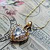 Женская подвеска кулон Сердце, позолота, цепочка 45 + 5 см., фото 3