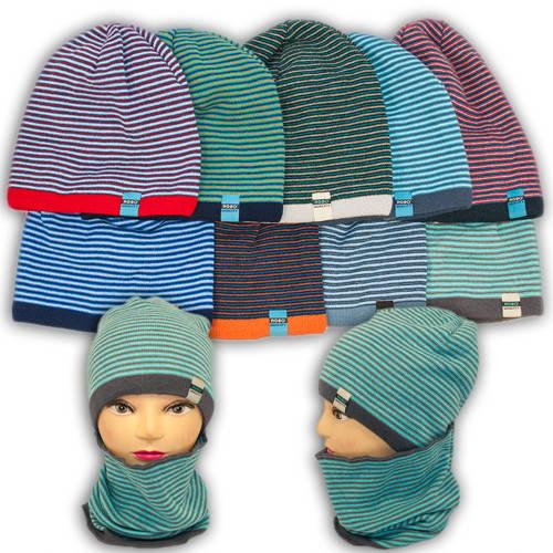 Вязаная шапка с хомутом, для мальчика, 1211 PLUTO