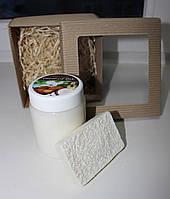 """Подарочный набор """"Райское наслаждение"""". Кокосовое масло для волос и тела+натуральное кокосовое мыло-скраб"""