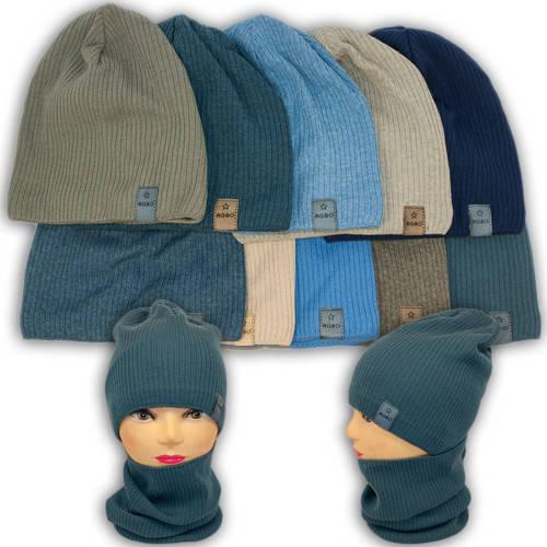 Вязаная шапка с хомутом, для мальчика, 1213 NIGEL