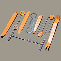 Набор инструментов (съемников) для снятия обшивки автомобиля, автомагнитол, разборки салона авто, 12 предметов