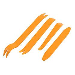 Набор инструментов (съемников) для снятия обшивки автомобиля, разборки салона авто, 4 предмета