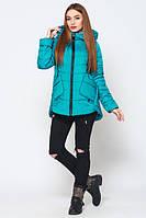 Весенняя стильная молодежная  бирюзовая   куртка Ника   Leo Pride 42-50 размеры
