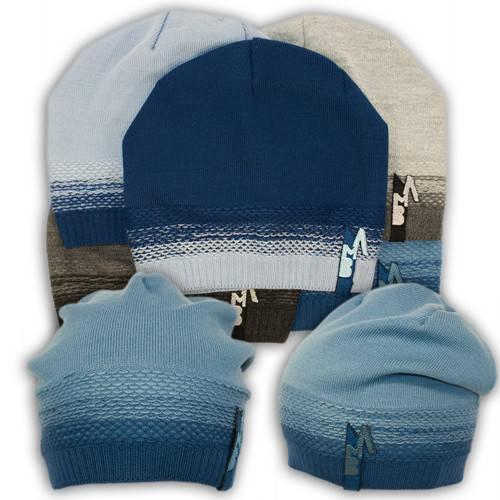 Вязаная шапка с вышивкой, для мальчика,W21