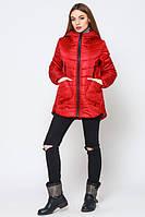 Весенняя стильная молодежная красная   куртка Ника   Leo Pride 42-50 размеры