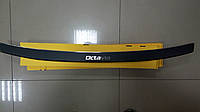 Накладка на бампер с загибом Skoda Octavia II A5 combi FL 2009- карбон