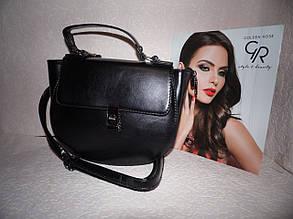 Женская черная сумка в стиле Chloe (Хлоя)