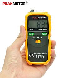 Цифровой контактный термометр PeakMeter PM6501, от -50 до 750 градусов