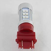 Автомобильная LED лампа SLP LED в задние фонари с цоколем 3157(P27/7W)(3757)(W2/5*16q) 27 2835 led красный, фото 3